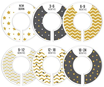 Beautiful Delicush Baby Closet Dividers, Set Of 6 Size Organizers, Nursery Closet  Organizers, Baby