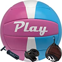 VbStar Volleyball Ball Set with Drawstring Bag, Air Pump and Whistle - Waterproof Soft Touch Ball Great for Indoor…
