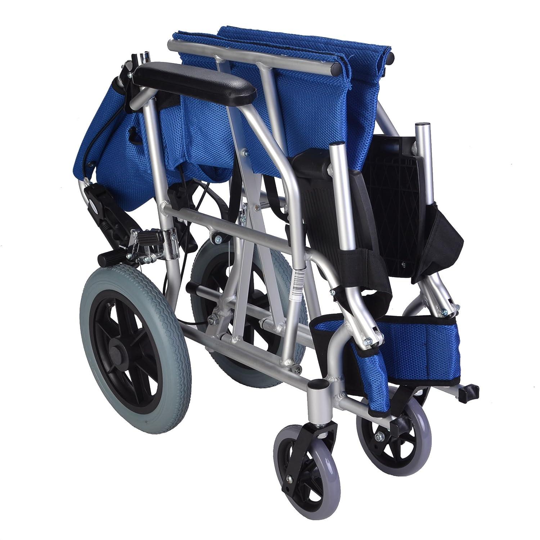 Elite Care EC1863 - Silla de rueda plegable, azul: Amazon.es: Salud y cuidado personal