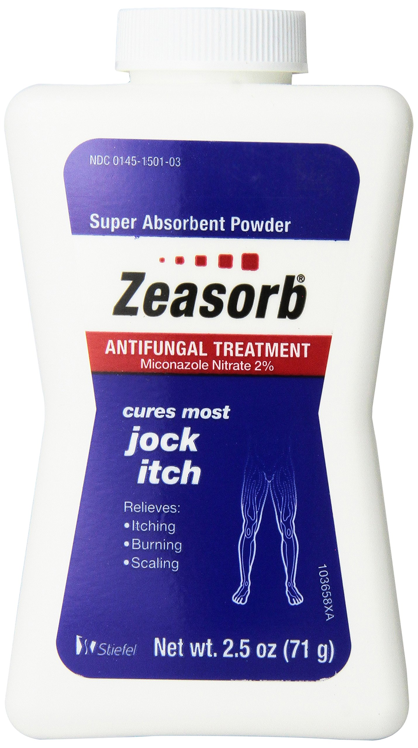 Zeasorb Antifungal Treatment Powder, Jock Itch 2.5 Oz (3 Pack) by Zeasorb
