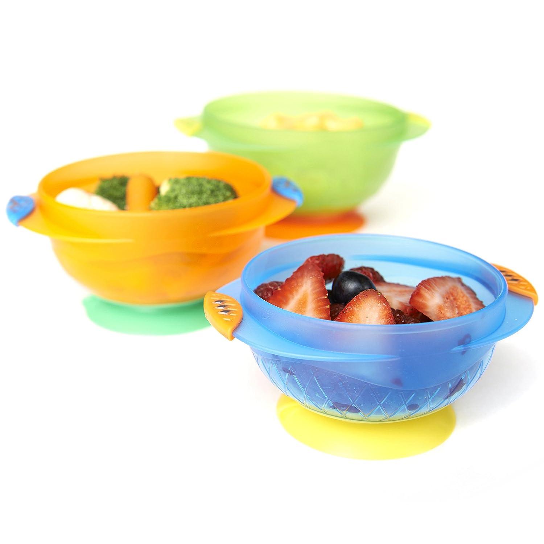 Amazon.com : Munchkin Stay Put Suction Bowl, 3 Count : Baby Dinnerware :  Baby