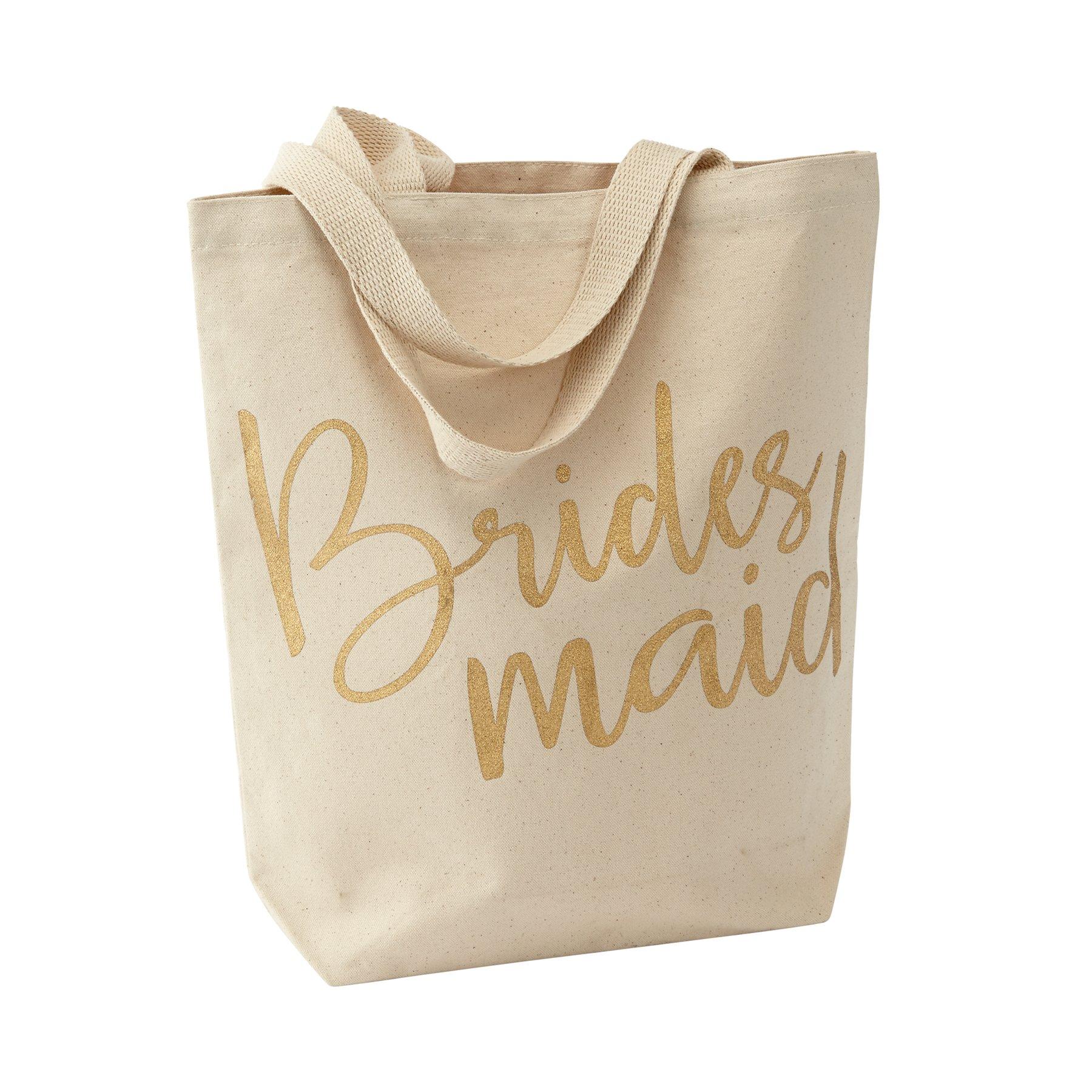 Mud Pie Wedding Canvas Tote Bag Bridesmaid