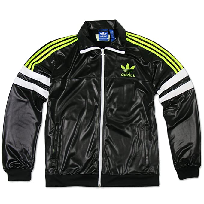 ADIDAS CHILE 62 Trainingsjacke Damen schwarz Jacke glänzend