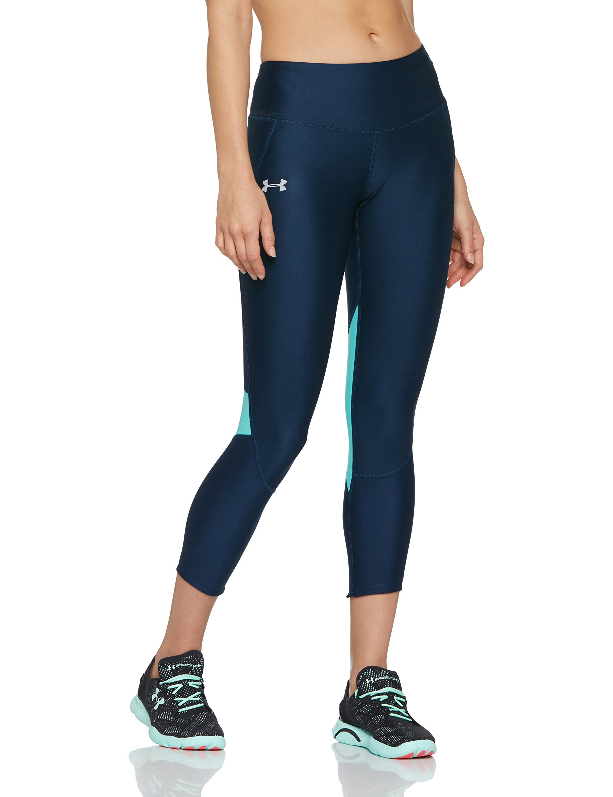 Under Armour Women's Armour Fly Fast Crop, Academy /Reflective, Small