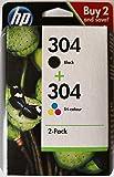 Cartouches d'encre pour Imprimante HP Deskjet 3720, HP Deskjet 3730 Multipack bk/c
