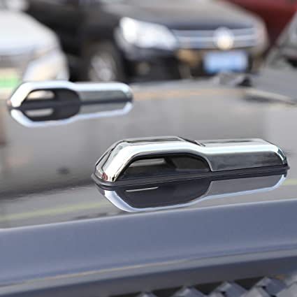 For 2018 2019 Jeep Wrangler JL Carbon Fiber Engine Hood Hinge Cover Accessories