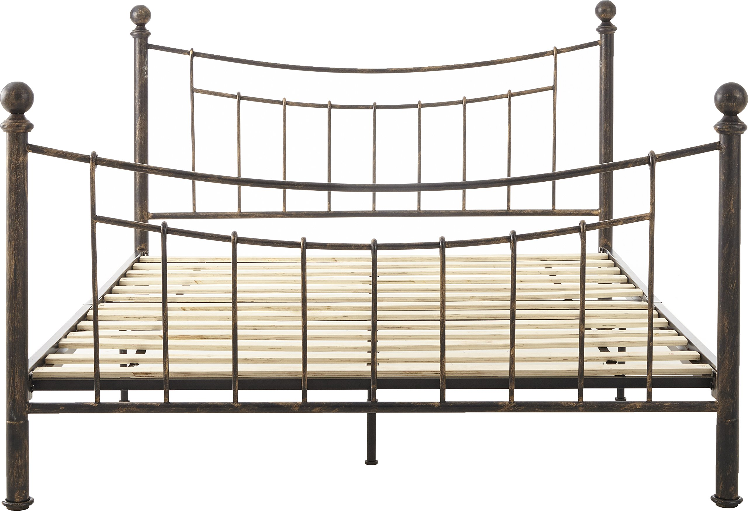 Flex Form Rowan Metal Platform Bed Frame / Mattress Foundation with Headboard and Footboard, Queen by Flex Form (Image #7)