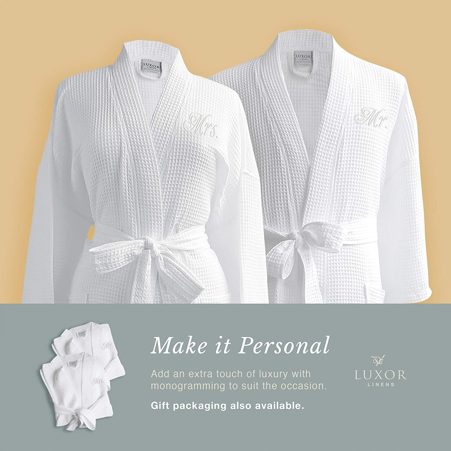 Waffle Weave Bathrobe Gift For Her Monogrammed Robe Kimono Personalized Robes Gift For Him Summer Robes