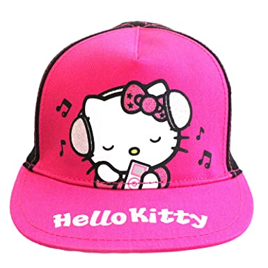 34becde0 Official Licensed Hello Kitty Black Pink Baseball Cap Age 4-8 Years  Adjustable: Amazon.co.uk: Clothing