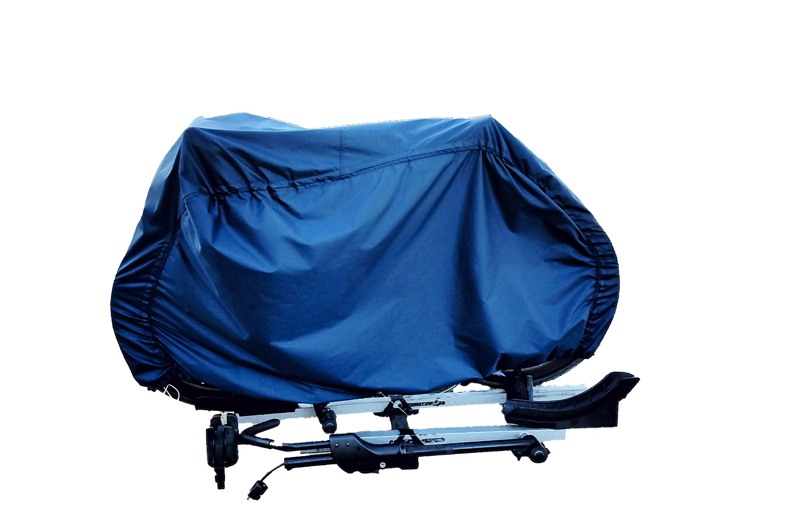 Heavy-duty bike cover for hitch-mount bike racks by OVERCOVERED (Image #1)