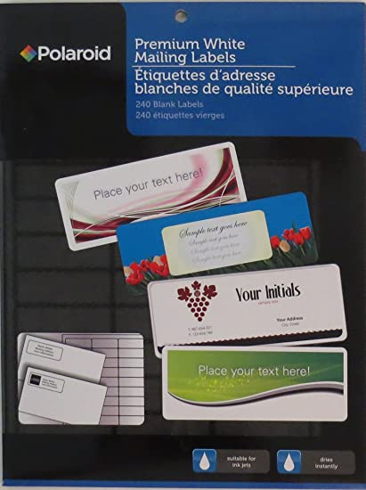 amazon com polaroid premium white 30 up mailing labels 2 5 8 x 1