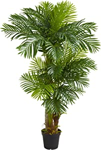 Nearly Natural 6' Hawaii Artificial Palm Green