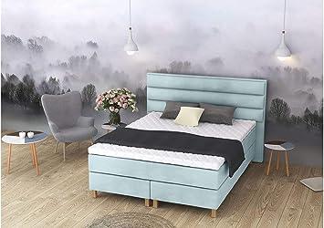 ELESS - Cama Doble con somier de Media Altura, 120 x 160 x ...