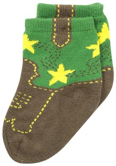 9bd06d071820 Amazon.com: John Deere Baby Boys' Boys' Western Boot Socks 1 Pack ...