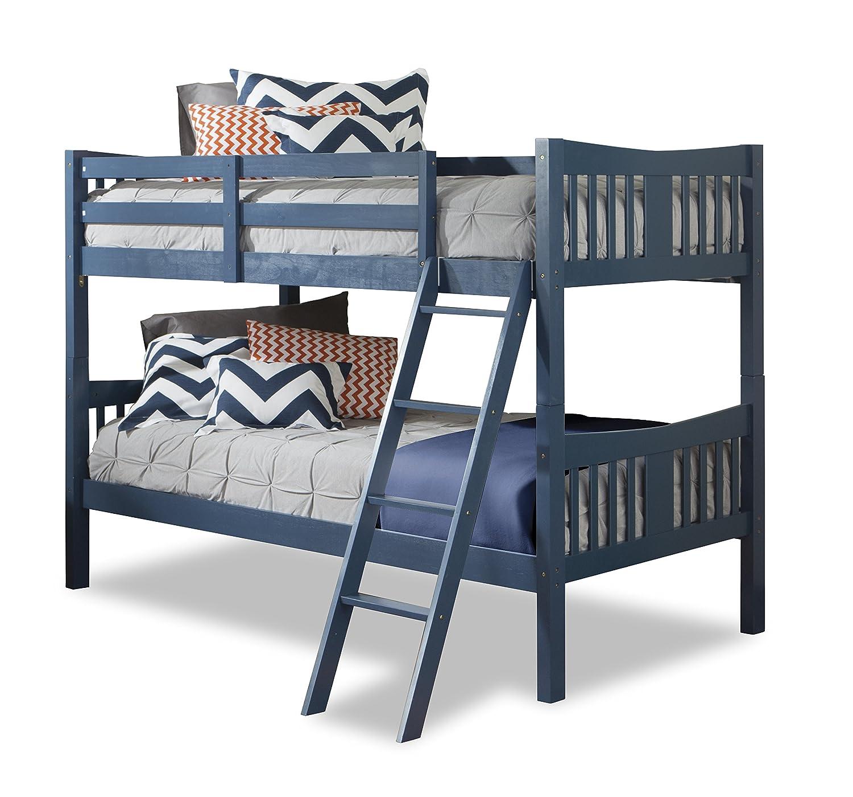 Storkcraft Caribou Solid Hardwood Twin Bunk Bed Navy Amazonca Baby