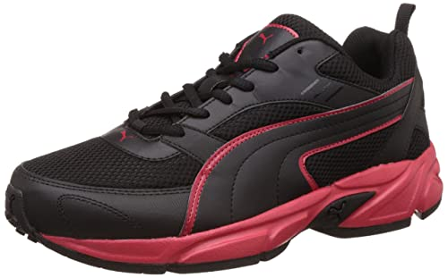 2bea3ba1188738 Puma Men s Atom Fashion III Idp Puma Black and High Risk Red Running Shoes  - 6