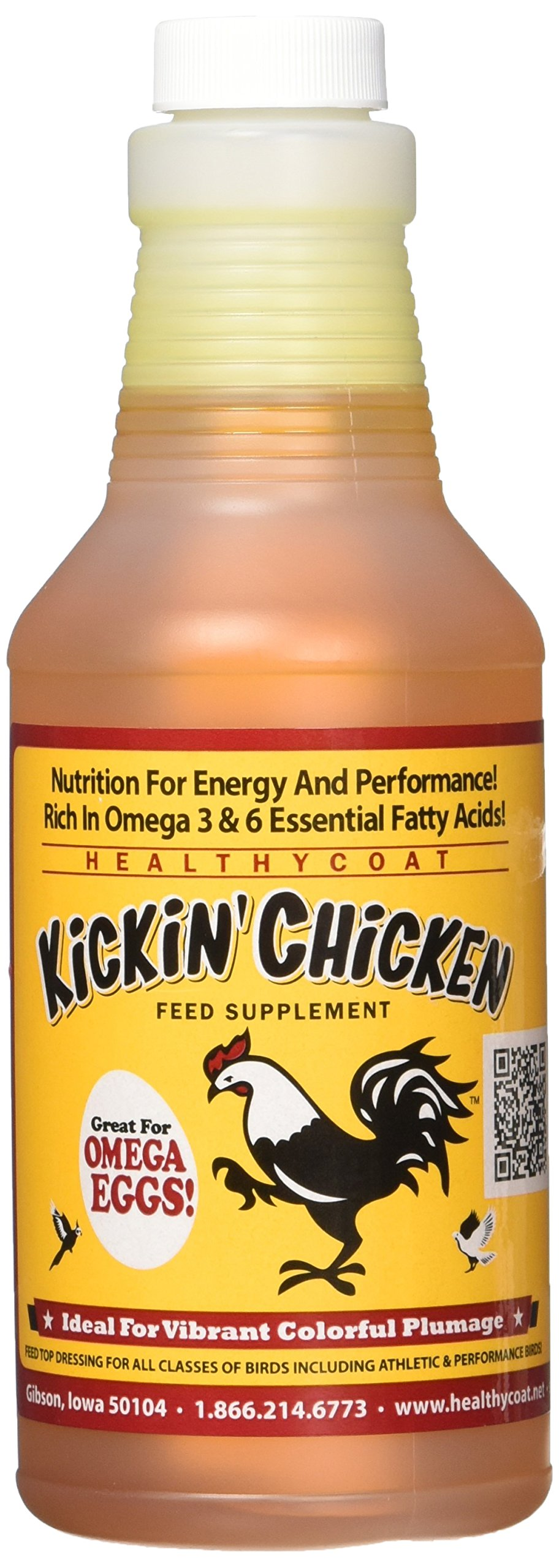 HealthyCoat Kickin Chicken: Pint - for Better Plumage, Eggs, and Attitude.