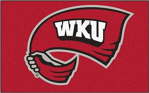 FANMATS NCAA Western Kentucky University Hilltoppers Nylon Face Ultimat Rug