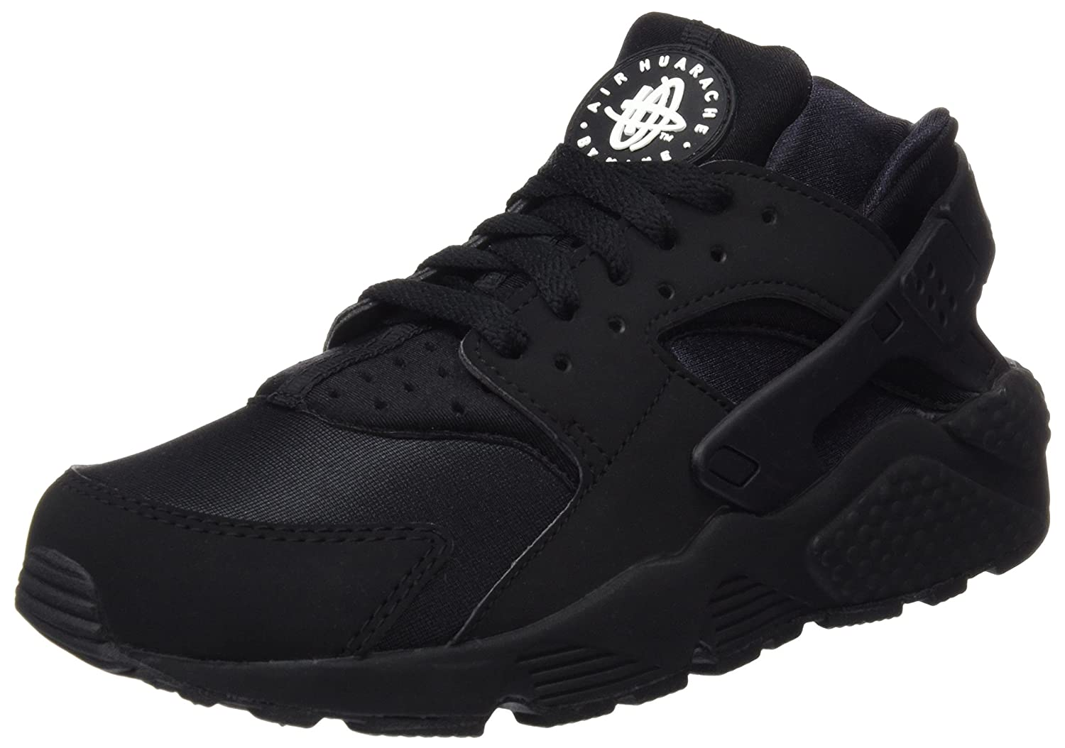 NIKE Men's Air Huarache Running Shoes B00LDZLFIW 9 D(M) US|Black/Black/White