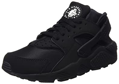 nike huarache mens black and white