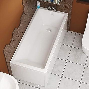 Cesar 1700 X 700mm Designer Acrylic Single Ended Bath Straight Bathroom Bathtub Amazon Co Uk Diy Tools