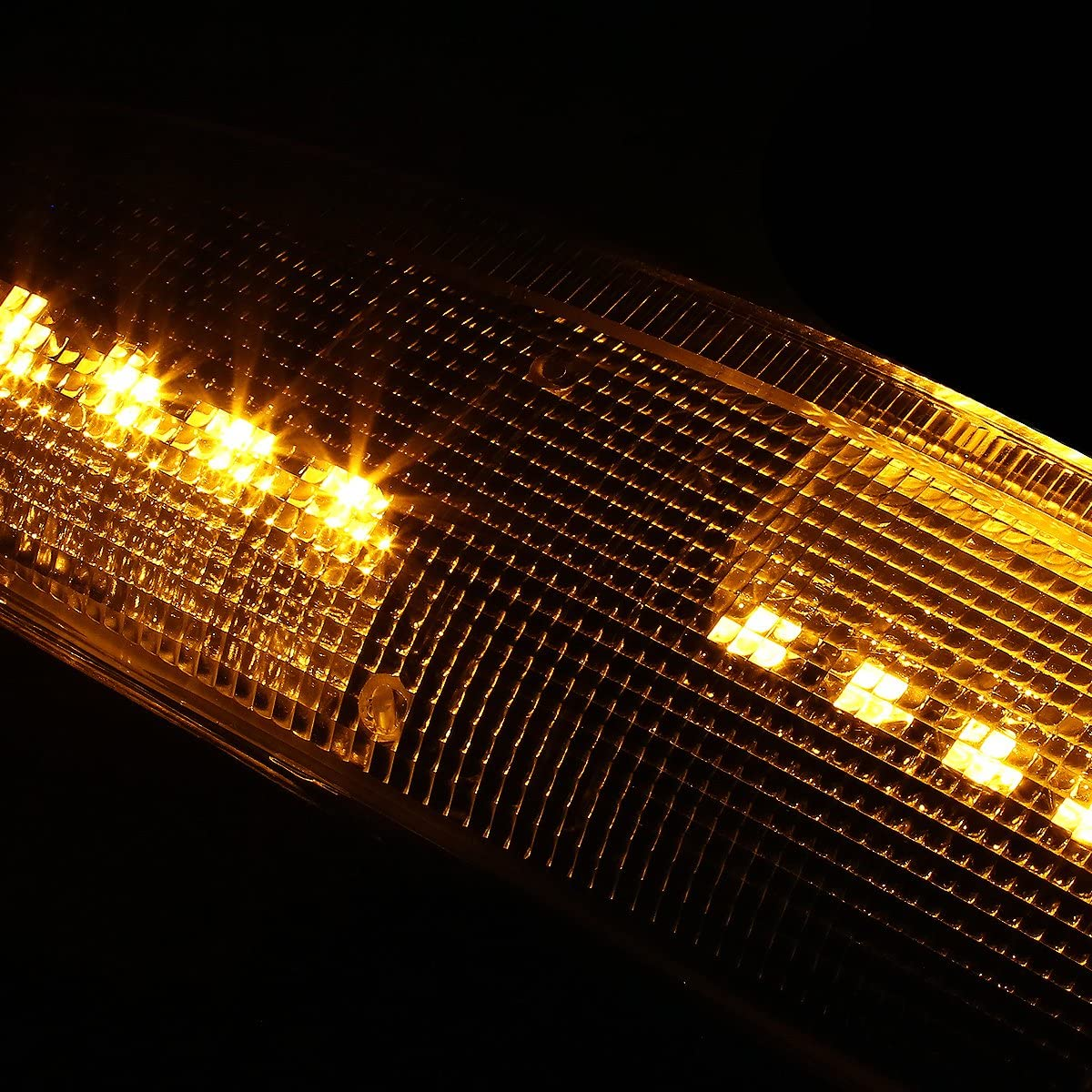 DNA MOTORING MLEDL-003-BK-SM-AM Black Housing Side Mirror Turn Signal Light