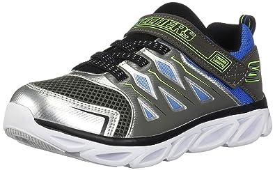 Skechers Hypno Flash 3.0 90511L Boys' Toddler Youth Sneaker 4.5 M US Big Kid Silver Gunmetal Lime