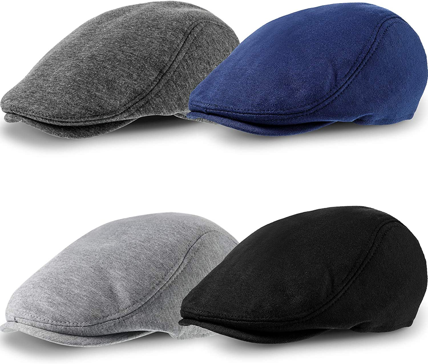 4 Pieces Mens Cotton Flat Cap Newsboy Hats Ivy Newsboy Hat Cabbie Hat Gatsby Hat