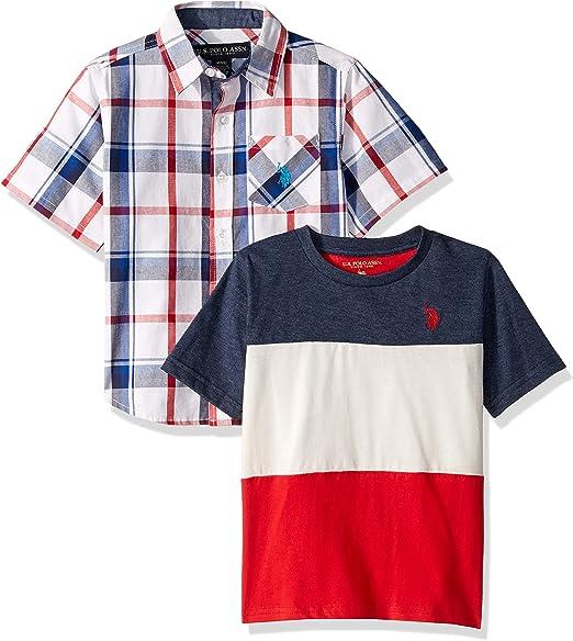 Polo Assn Boys Short Sleeve Woven Shirt U.S