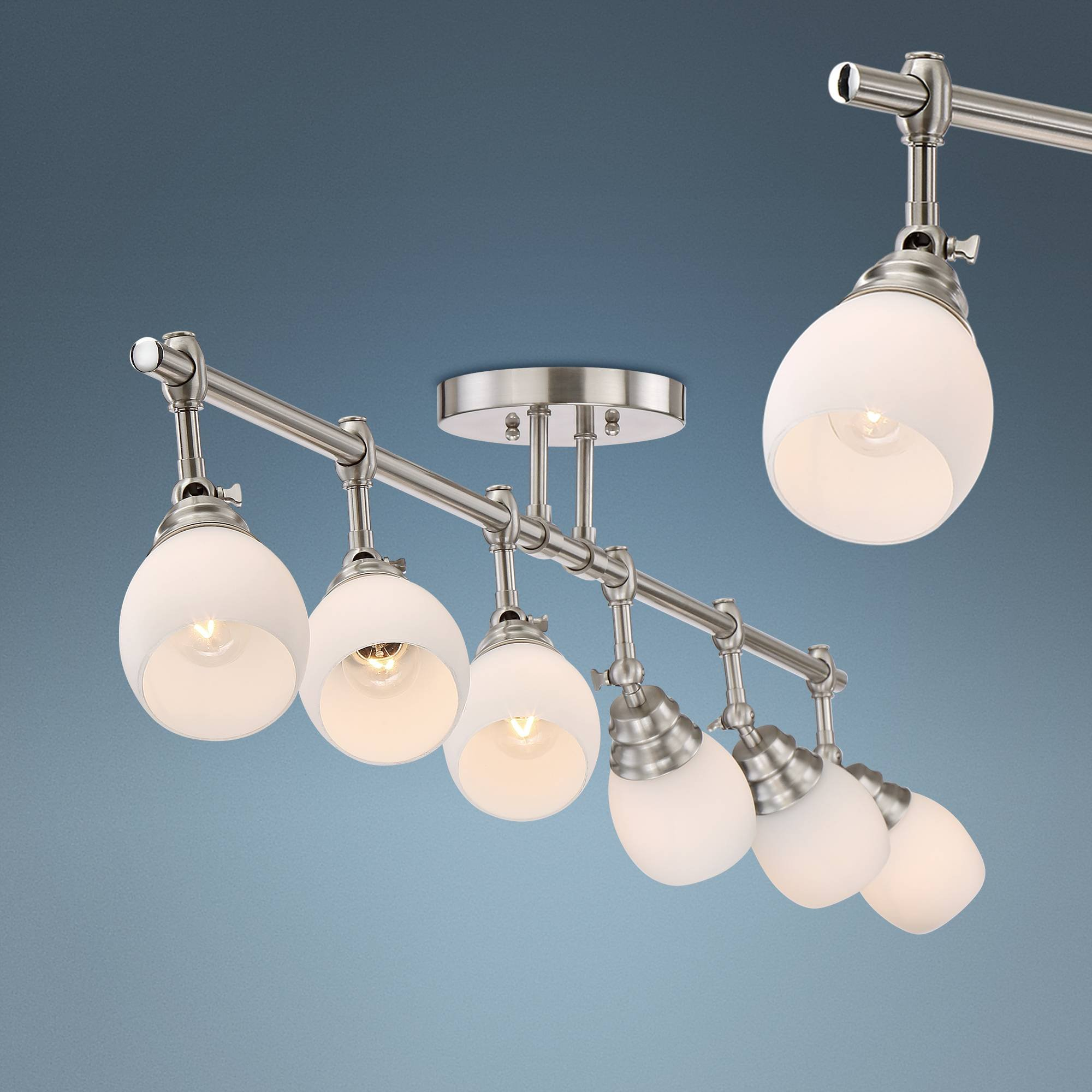 Pro Track Elm Park Brushed Nickel 6-Light Fixture - Pro Track