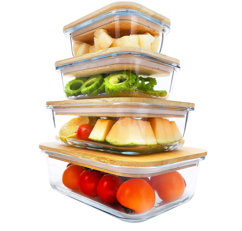 BlueHills Vidrio de recipientes de preparación de comidas ...