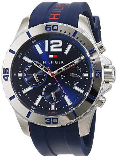 Amazon.com: Tommy Hilfiger Nolan 1791142 Mens Wristwatch Solid Case: Watches