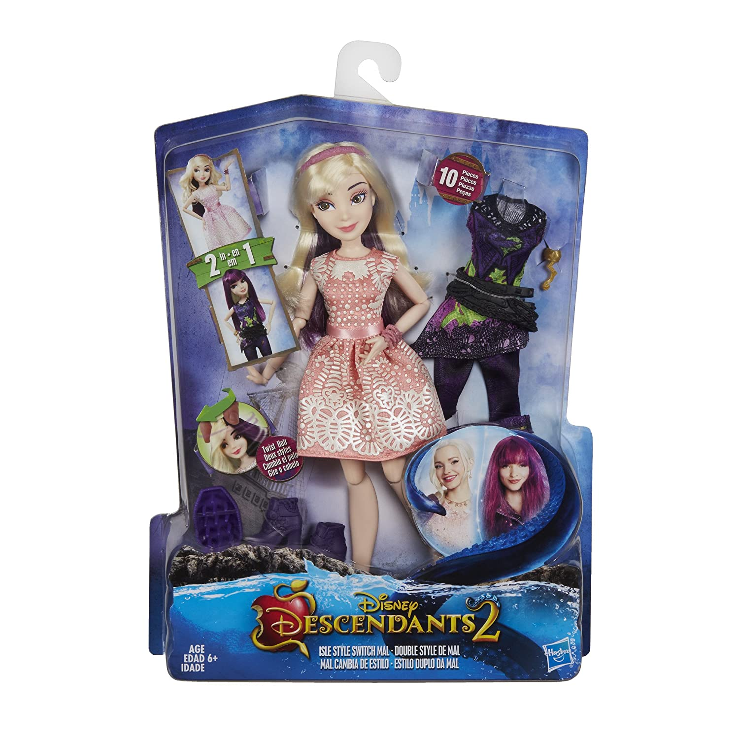 44ac3b01de Amazon.com  Disney Descendants Isle Style Switch Mal  Hasbro  Toys   Games