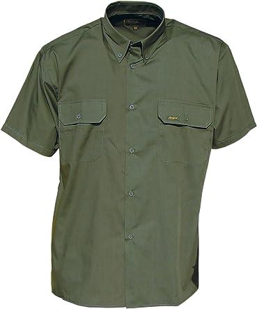 Benisport - Camisa Manga Corta Talla 45, Color Caqui: Amazon.es: Ropa y accesorios