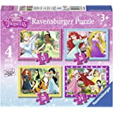Ravensburger Disney Prinzessinnen 4 in 1 Puzzle-Set [UK Import]
