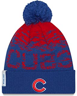 Amazon.com   Chicago Cubs Big Logo Light Up Printed Beanie   Sports ... 584dfbcf3e0