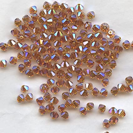 ** 100 toupies crystal 4 mm   JET AB ** 5301