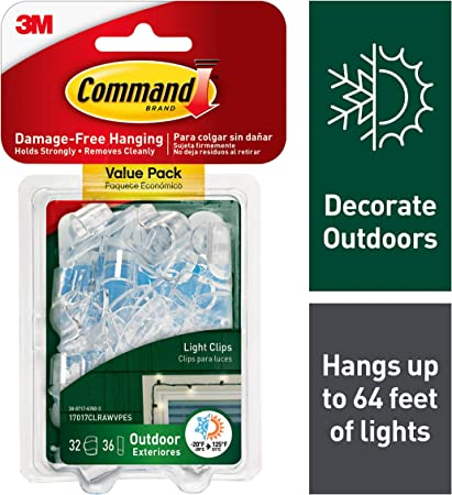 Commercial Grade Multi Application Christmas Light Clips 50 Count Box Roof