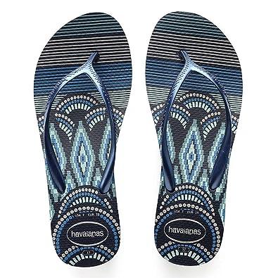 0cb74a3f43b4 Havaianas High Fashion Print Womens Wedged Flip Flops. Navy Blue  Amazon.co. uk  Shoes   Bags