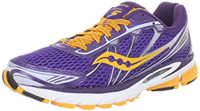 Saucony Women's Ride 5 Running Shoe,Purple/Orange,11.5 ...