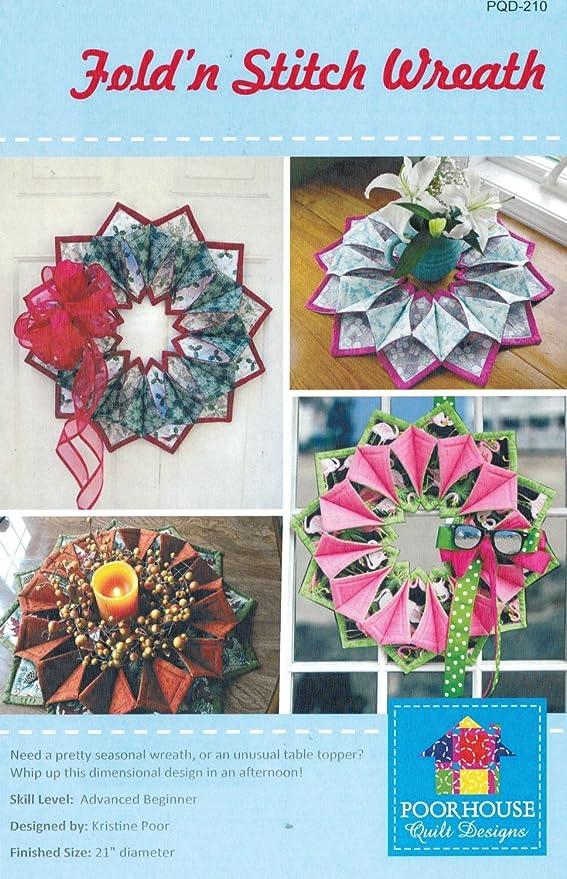 Amazon Fold 'n Stitch Wreath Kit Pattern Fusible Web Foam Inspiration Fold And Stitch Wreath Pattern