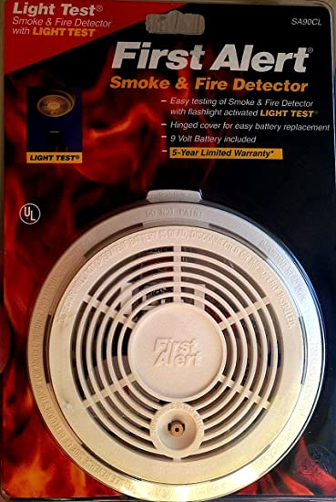 Amazoncom FIRST ALERT SA90LT Smoke Fire Detector Kitchen Dining