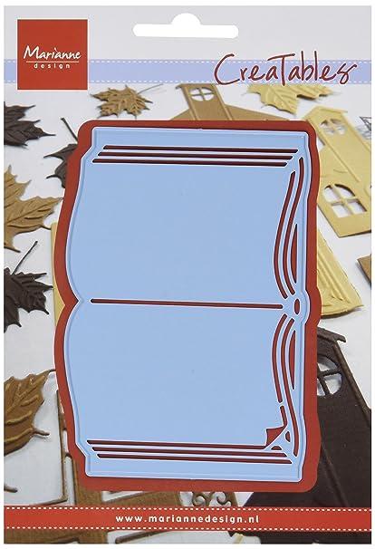 Marianne Design Lr0253 Livre Ouvert Creatables Metal Bleu 10 X 7 X 0 4 Cm
