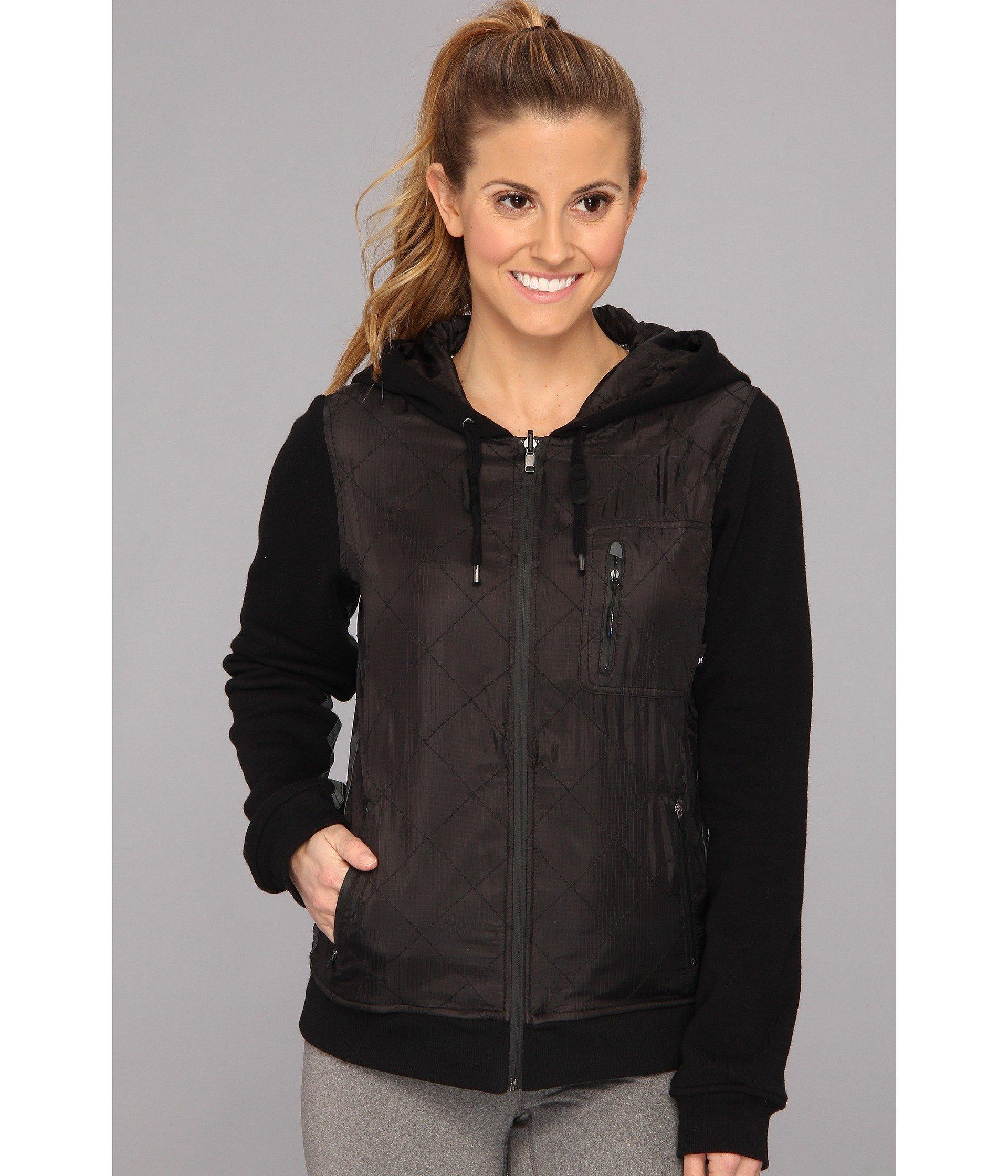 Hurley Women's Parachute Pack Culprit Jacket Black Outerwear XS (US 00-1) by Hurley