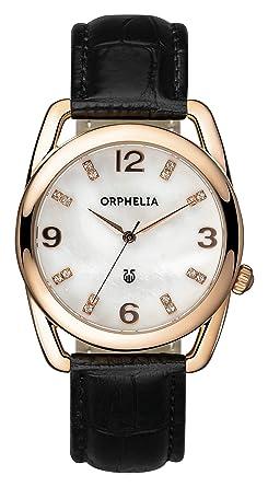 a8844c2f38 Orphelia - OR53172211 - Montre Femme - Quartz Analogique - Bracelet cuir  noir