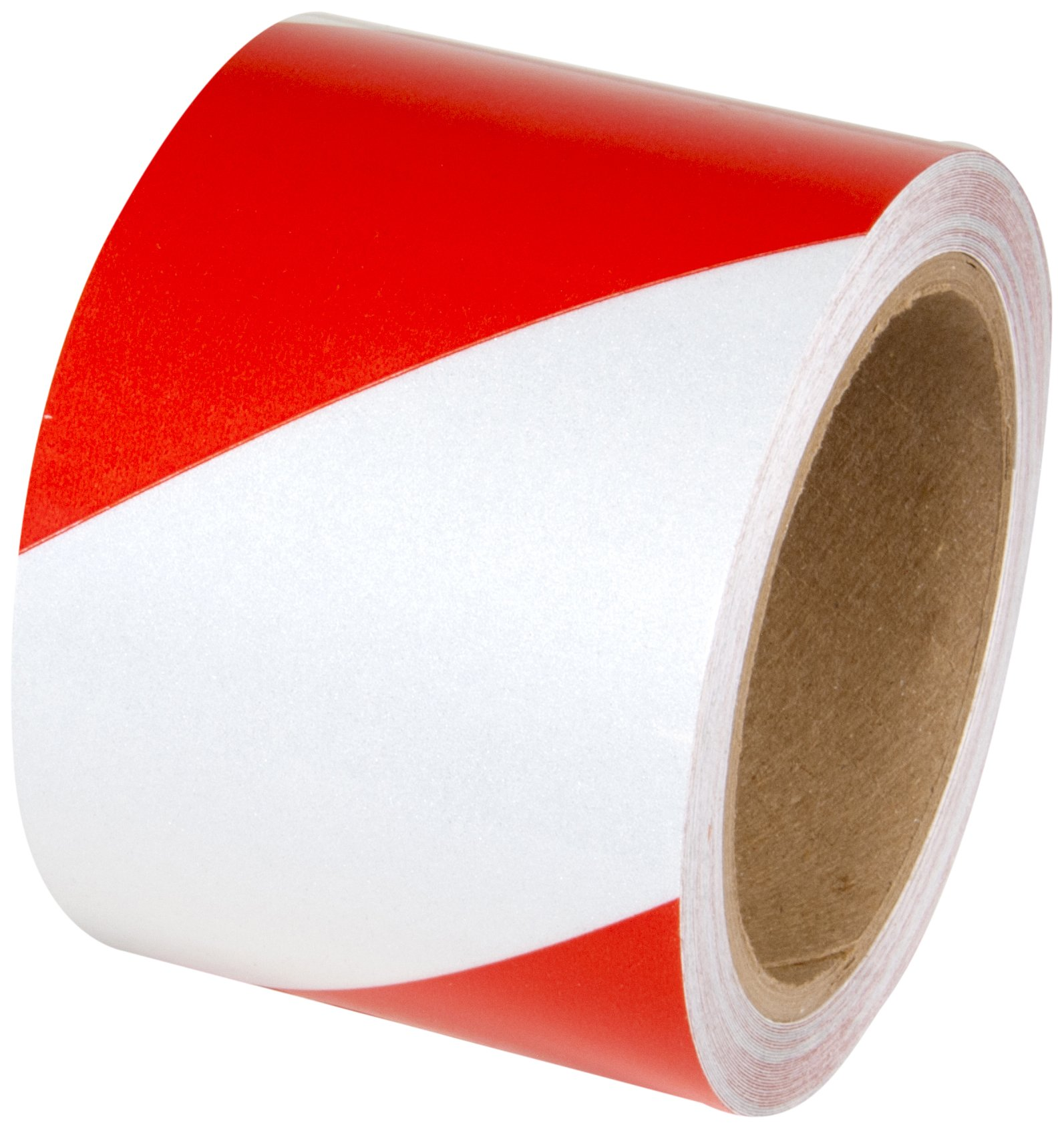 INCOM Manufacturing: Engineer Grade Reflective Safety Tape, 4'' x 30', Red/White