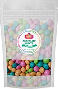 Roses Brand: Gourmet Chocolate Mints - 1 , 1lb Bag - Bulk, Resealable Bag - Halal and Kosher - Great Party Celebration Candy for Easter, Weddings or Baby Showers