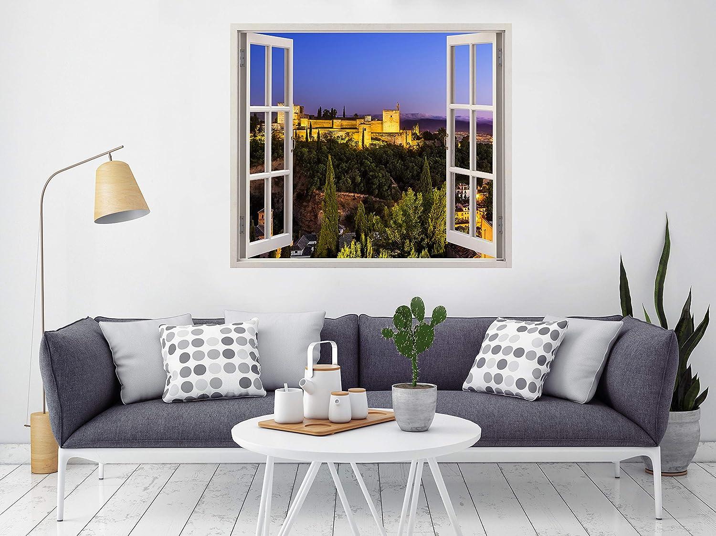 Vinilo Ventana Alhambra de Granada 115x100cm | Adhesivo Incluido ...