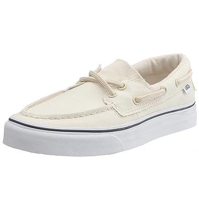 6167bbe47d1 Vans Zapato DEL Barco White (10.5 B(M) US Women   9 D