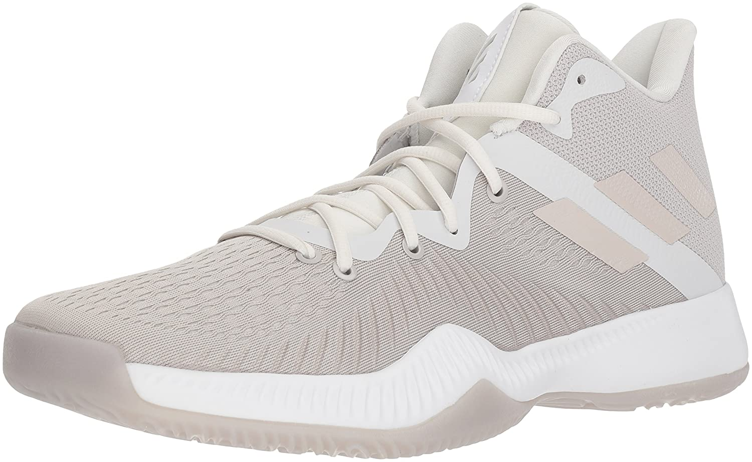 adidas Men's Mad Bounce Basketball Shoe B073PDHJ1Z 11 D(M) US|Ftwr White, Chalk Pearl S, Crystal White S